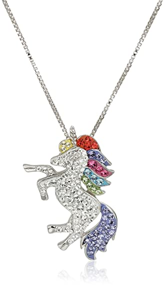 Sterling Silver Realistic Unicorn Pendant Necklace xyQlpHD