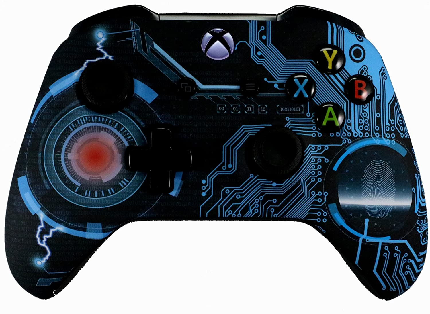 Xbox One Blue Flames Modded Rapid Fire Custom Controller