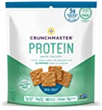 Crunchmaster Protein Snack Crackers, Sea Salt, 3.54 Ounce
