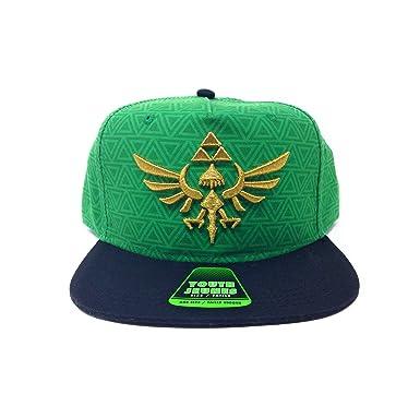 c2244176 Bioworld Men's Licensed The Legend of Zelda Youth Snapback Hat O/S Black/ Green