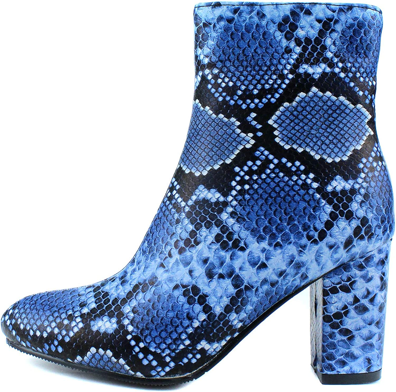 100FIXEO Womens Booties Blue