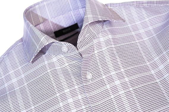 5d549dd9a Amazon.com: BOSS Jason Shirt in Plum Check 39: Clothing
