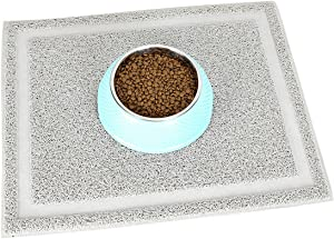 Uheng Pets Cats Dogs Litter Feeding Mat Durable Waterproof Rectangular Trapping Rugs 20