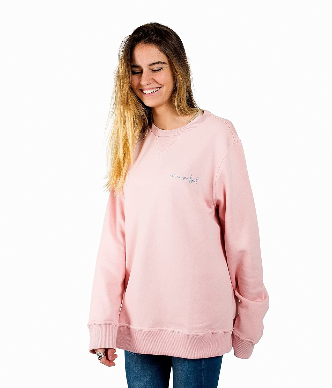 SIMPEL Sudadera de color Rosa para Mujer Actasyoufeel. Sudadera sin capucha.: Amazon.es: Ropa y accesorios