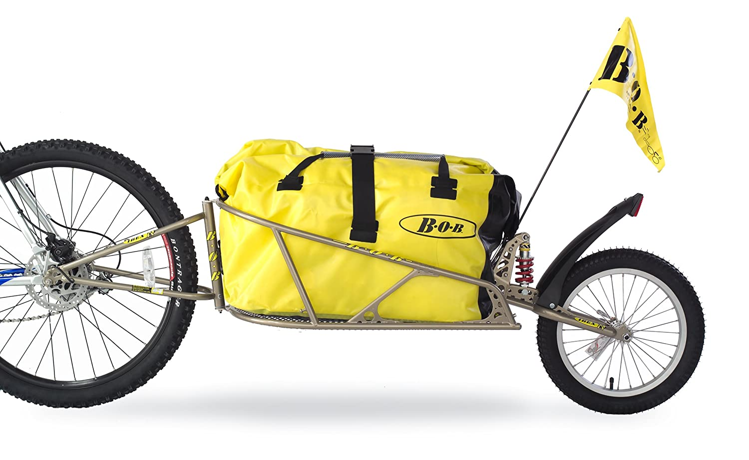 Bob Ibex Bike Trailer With Bag And Quick Release Clamp - For 28' Wheel, Gold