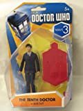 """Doctor Who Wave 3 - Tenth Doctor w/ Blue Suit - 3.75"""" Scale Figure"""