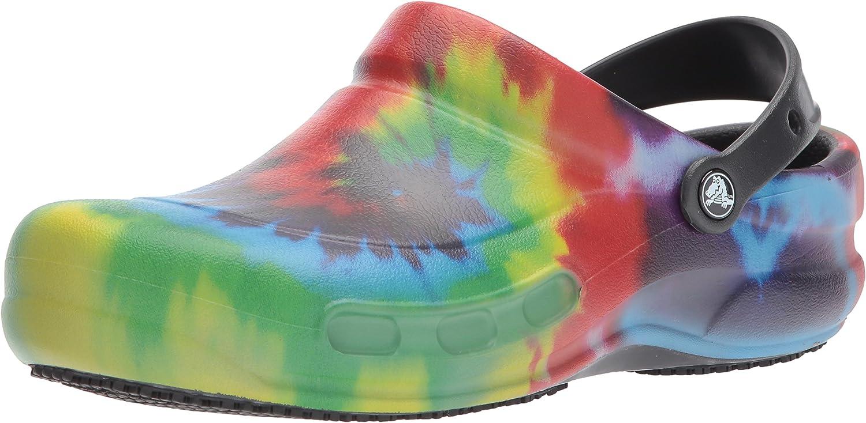 Crocs Unisex-Adult Bistro Graphic Clog | Slip Resistant Work Shoes