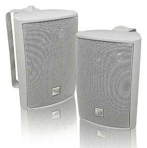 Dual LU43PW Dual 4-Inch 3-Way Indoor-Outdoor Speakers, White