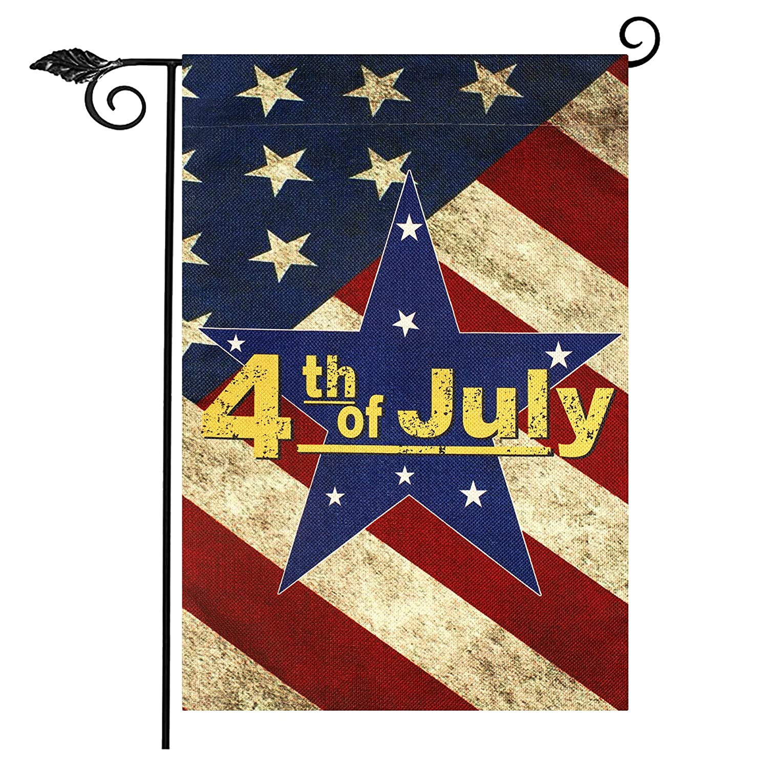 4th of July Garden Flags, Double Sided American flag Stars and Stripes Patriotic Sign Independence Day, 12.5 x 18 Inch Patriotic Garden Flag for Outside Yard Outdoor Porch Patio Farmhouse Lawn