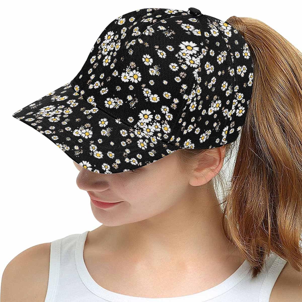 InterestPrint Beautiful Ditsy Floral Background Outdoor Sport Trucker Cap Hats for Men Women