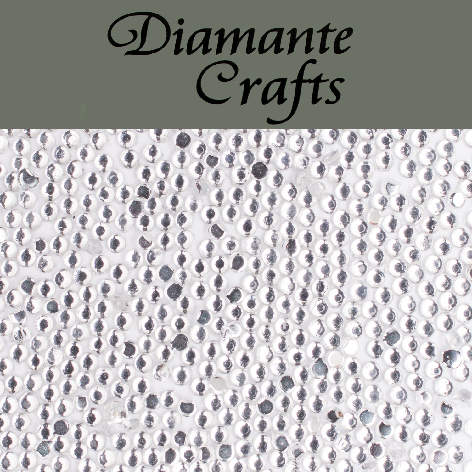 1000 x 1mm Clear Round Diamante Loose Flat Back Rhinestone Nail Body Vajazzle Gems - created exclusively for Diamante Crafts