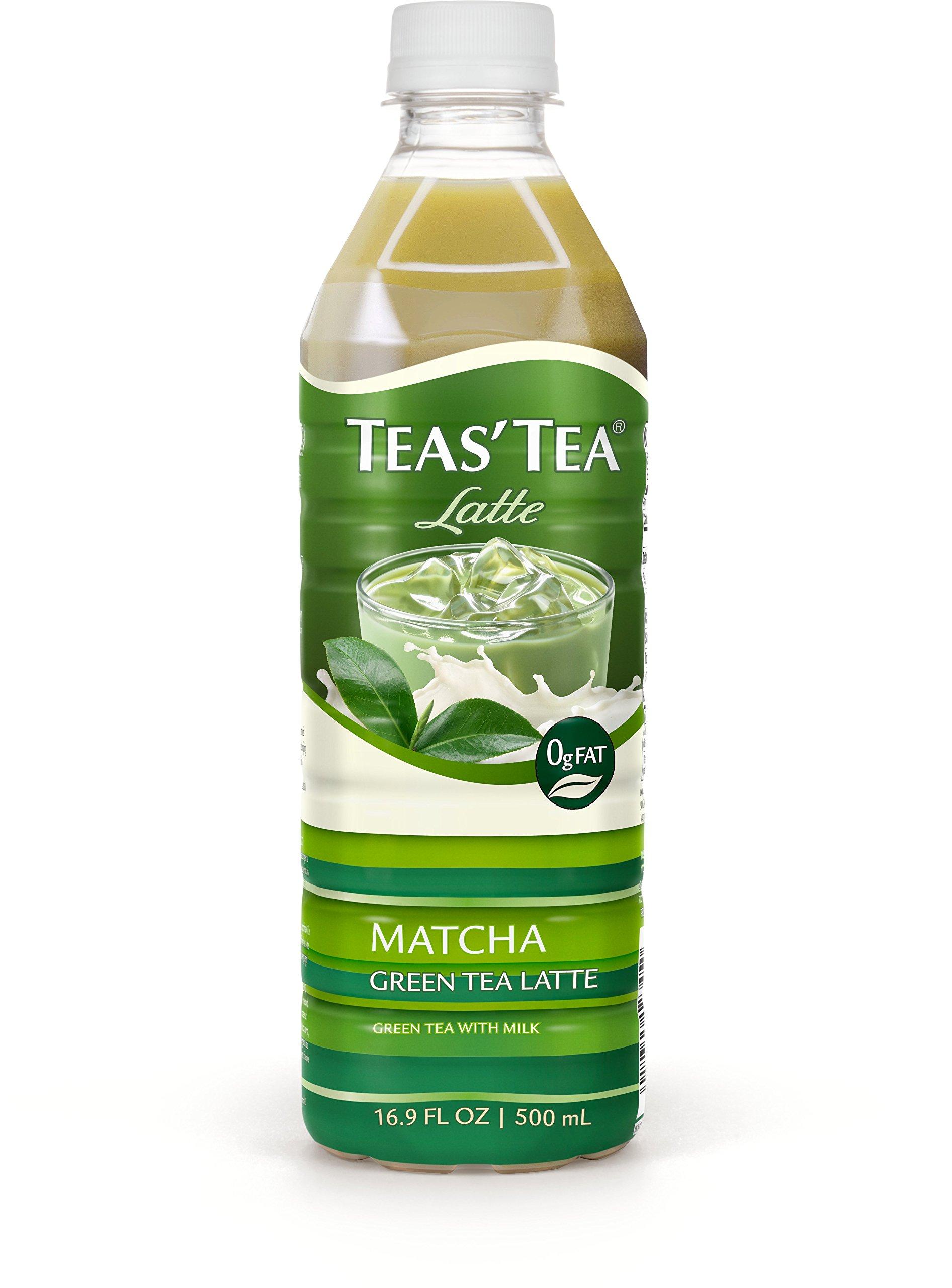 Teas' Tea Matcha Green Tea Latte, 16.9 Ounce (Pack of 12), Organic, Cane Sugar Sweetened, Fat Free, No Artificial Sweeteners, Antioxidant Rich, High in Vitamin C, Caffeinated
