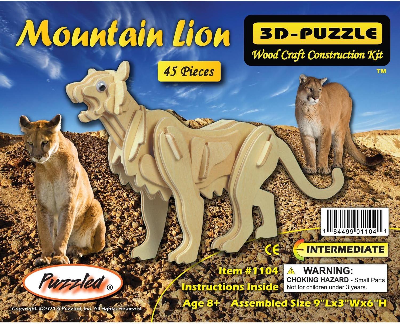 Amazon.com: 3D Puzzles - Mountain Lion ...