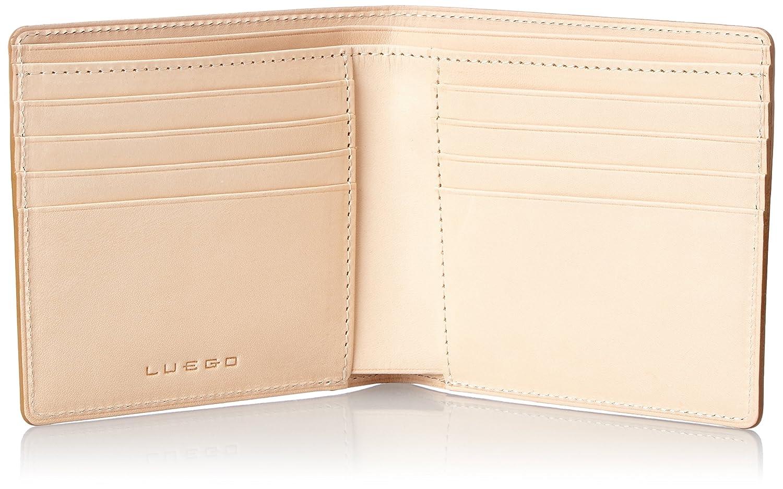 LUEGO(ルエゴ)日本製!コードバン メンズ二つ折り財布 小銭入れなしMWCV-12