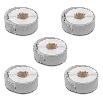 vhbw 5x set rollo de etiquetas adhesivas 19mmx 147mm para ...