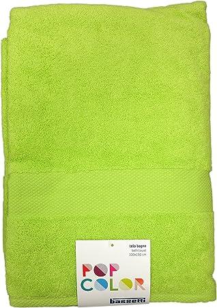 Toalla baño Esponja Pop Color cm.100 x Bassetti Rizo Algodón 100% 150 Gr.500mq2: Amazon.es: Hogar