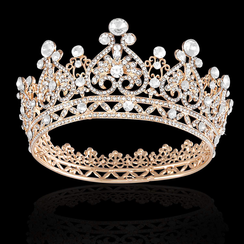 Joypea Tiara Crown Crystal Tiara For Women Bridal Crown Wedding Birthday Prom Queen Pageant Hair Accessories by Joypea