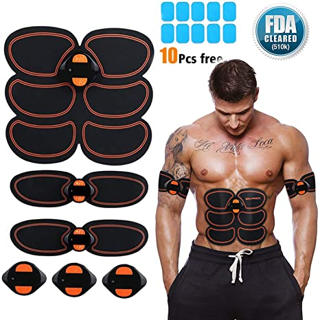 Ultimate Abs Simulator Ems Training Body Abdominal Muscle Exerciser Arms Waist 100% Original Fitness Equipment & Gear