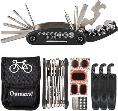 Oumers Kit de Reparación de Bicicletas,16 en 1 Herramienta ...