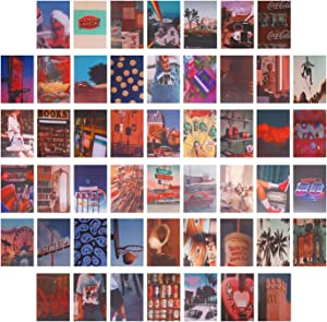 MuiSci 50 PCS Wall Collage Kits, Wall Collage Aesthetic Pictures, Aesthetic Dorm Decor for Teen Girls and Boys, Collage Art Print for Room Decor, Collage Wall Sets for Dorm Bedroom Aesthetic, 4*6 inch (Retro classic style)