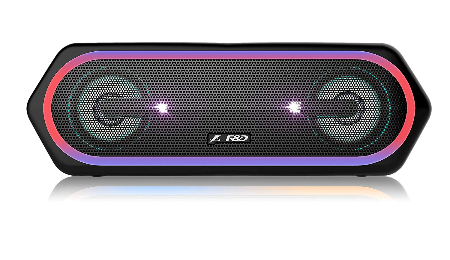 F&D W40 20 W Bluetooth Speaker (Black, Stereo Channel)