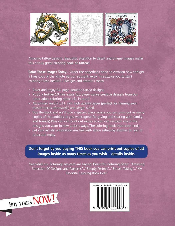 Tattoo Coloring Book My Creative Body Art Designs Books Volume 1 Grace Sure 9781910085448 Amazon