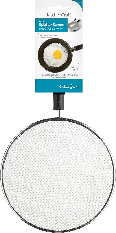 Kitchen Craft Small Frying Pan Splash Guard/Splatter Screen, 20 cm (8