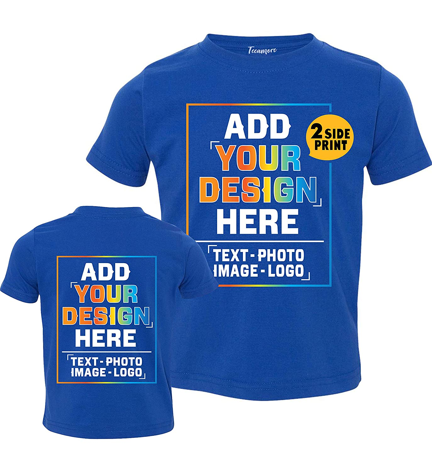 Custom Toddler T Shirt Design Your Own Personalized Text Image Photo for Kids