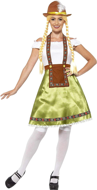 Smiffys-45513L Disfraz de Doncella bávara, con Vestido y Delantal ...