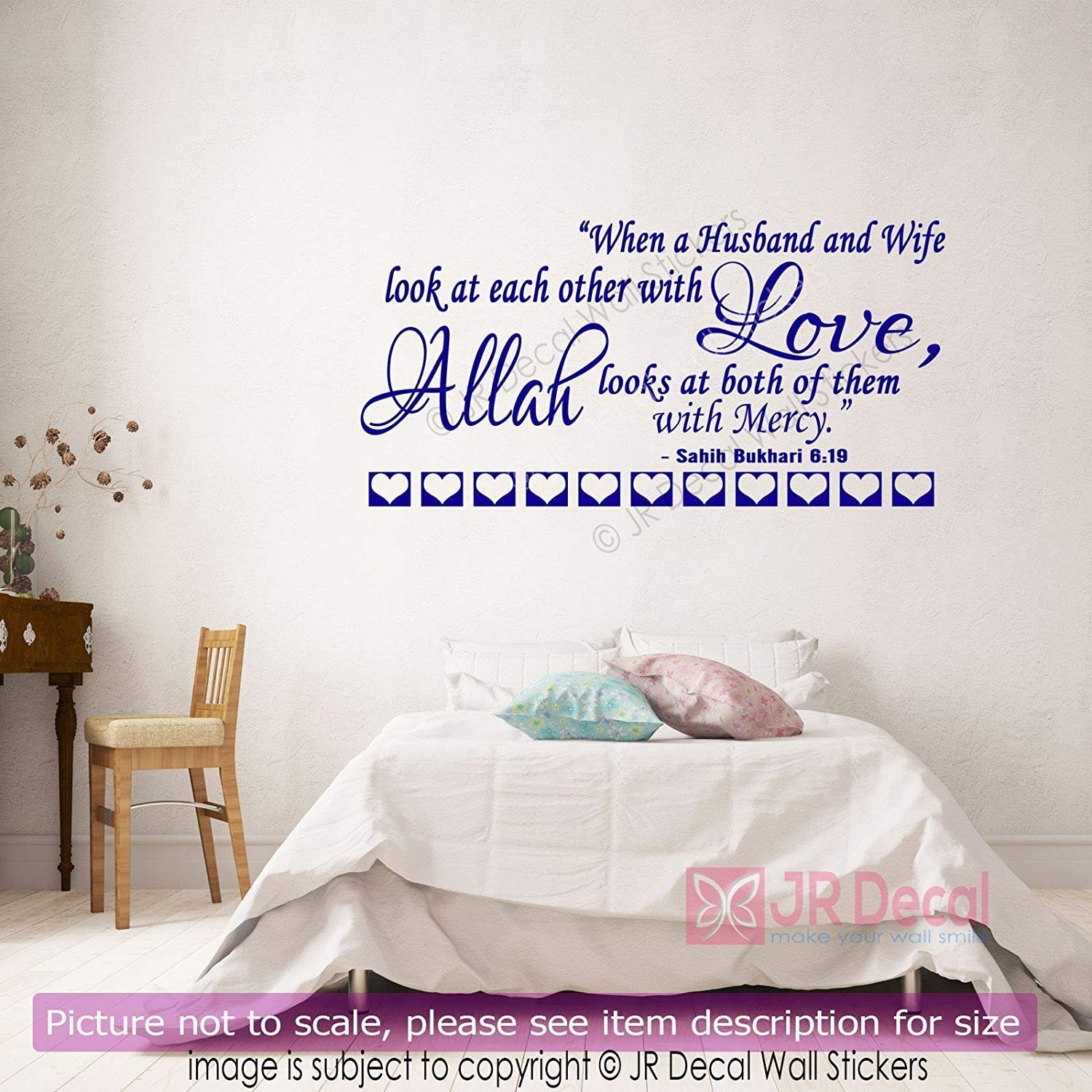 Amazon Com Islamic Husband Wife Quote Islamic Wall Stickers Love Quote Wall Vinyl Removable Decal Home Muslim Wall Art Handmade