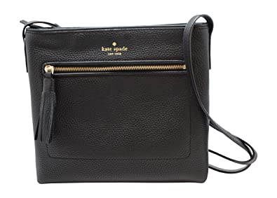 e33bf7a53 Kate Spade New York Chester Street Dessi Pebbled Leather Shoulder/Crossbody  Bag (Black)