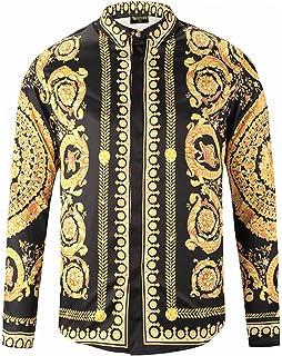 Pizoff Chemise Homme à Belle Impression Luxury Design Dress Shirt Chemise  de Soirée Style Élégant Y1792 9e463f8012b