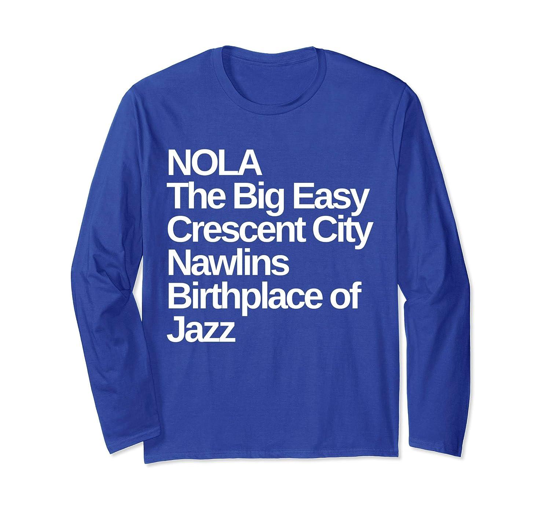 28b2a55eb98 Amazon.com: New Orleans Nicknames Louisiana Long Sleeve T-Shirt: Clothing