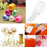 Party Propz 100 Balloon Glue Dot + 6 Pieces Multi Colour Ribbon for Crafts