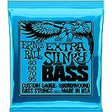 Ernie Ball Extra Slinky Electric Nickel Wound Bass Set, .040 -.095