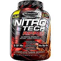 Muscletech Mezcla de Proteínas y Aminoácidos Nitro-Tech Ripped, Chocolate Fudge Brownie, 4 lb