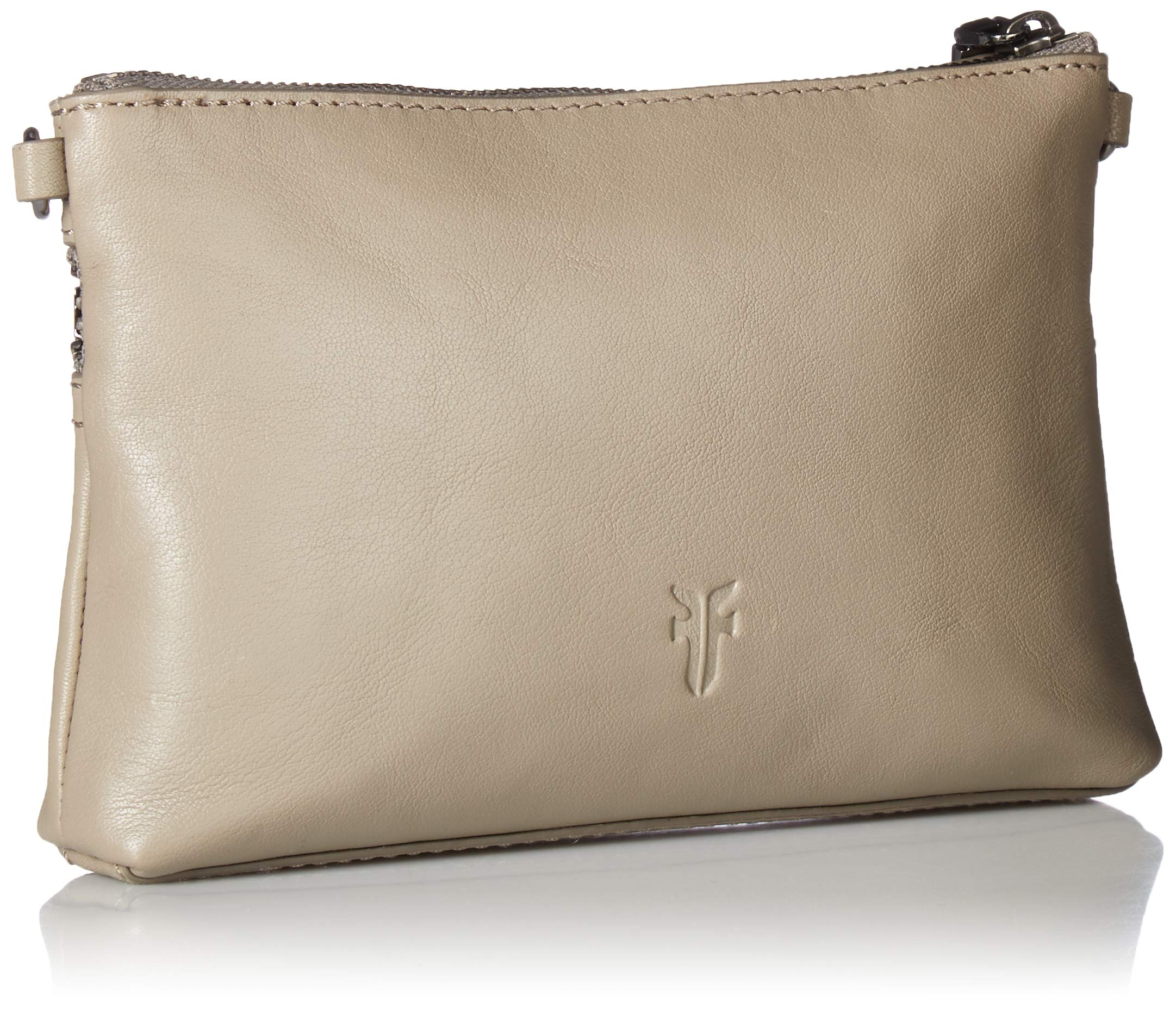 FRYE Lena Zip Leather Crossbody Wristlet Bag, grey by FRYE (Image #2)