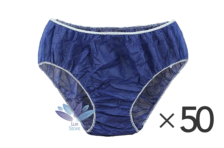 One Size Disposable Spa Salon Spray Tanning Underwear Briefs Panties- 50 Pack - Blue Bestdeallux LX602
