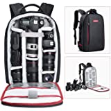 Beschoi DSLR Camera Backpack Waterproof Camera Bag for Sony Canon Nikon Olympus SLR/DSLR Camera Lens and Accessories Black ( Large )