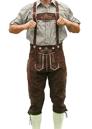 Amazon oktoberfest lederhosen german costumes oktoberfest bavarian tracht lederhosen hans bavarian clothing 32 dark brown solutioingenieria Image collections
