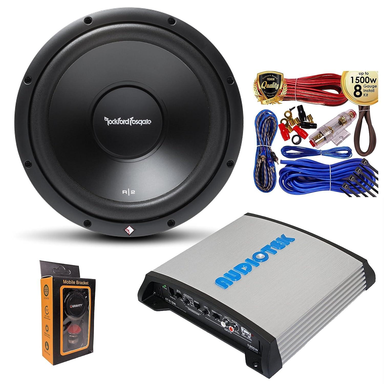 1 Rockford Fosgate R2d4 12 Prime Dvc 4 Ohm 500w Best Car Audio Wiring Kit Subwoofer With 1200w Mono Amplifier W Bass Control Amp Electronics