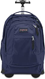 JanSport Driver 8 Rolling Backpack - Wheeled Travel Bag with 15-Inch