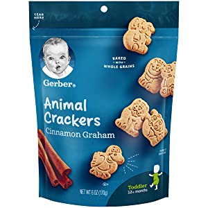 Gerber Animal Crackers Pouch, Cinnamon Graham, 6 Ounce (Pack of 4)