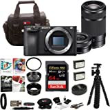 Sony a6500 Mirrorless Camera w/ 55-210mm Lens + 64GB SDHC Accessory Bundle