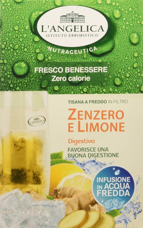L Angelica Tisana Funzionale A Freddo Zenzero E Limone 15 Filtri Confezione Da 10pz Amazon It Alimentari E Cura Della Casa