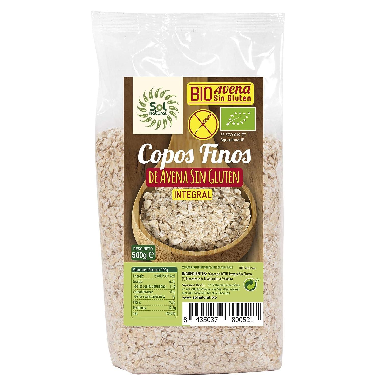 Copos de Avena Finos Sin gluten Bio Sol Natural 1 kg: Amazon ...