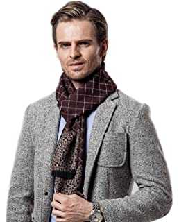 4 Colori Opzionali Uomini Sciarpa di inverno Moda Sciarpa di seta caldo  cachemire scalda collo lunghe 9f5feec6856d