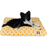 Majestic Pet Gray Links Medium Rectangle Indoor Outdoor Pet Dog Bed with Removable Washable Cover by