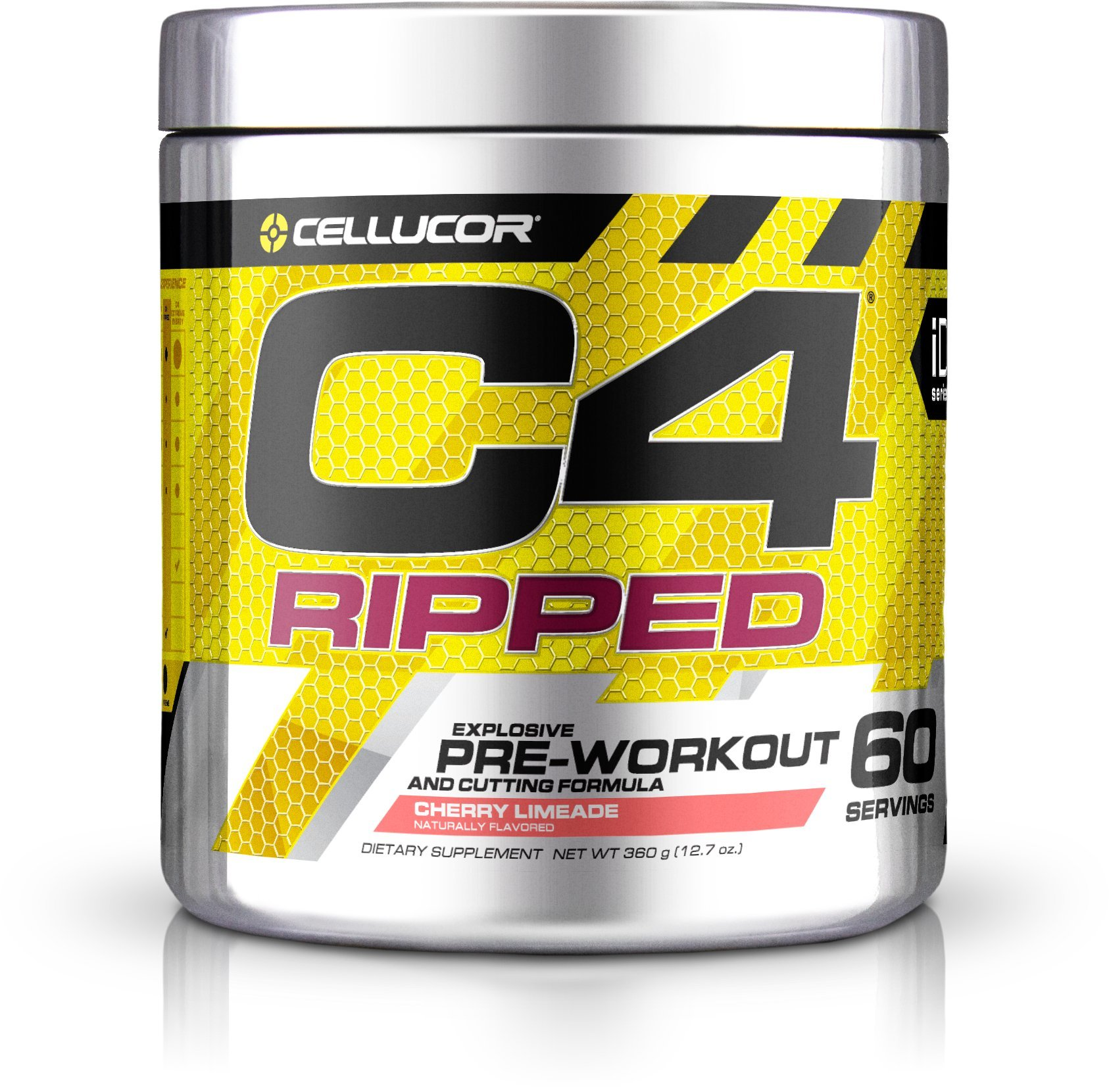 Cellucor C4 Ripped Pre Workout Powder Energy Drink + Fat Burner, Fat Burners for Men & Women, Weight Loss, Cherry Limeade, 60 Servings