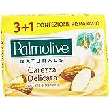 Palmolive - Sapone da Toilette, Carezza Delicata con Latte di Mandorla - 360 g  4 Pezzi